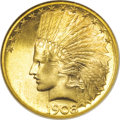 Indian Eagles, 1908-S $10 MS67 NGC....