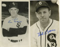 Autographs:Post Cards, Baseball Hall of Famers Signed Postcards Lot of 2 with Signed Letter. Photographic postcards from the Hall of Fame duo of T...