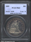 Proof Seated Dollars: , 1855 S$1