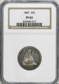 Proof Seated Quarters, 1887 25C PR63 NGC....