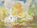 Texas:Early Texas Art - Impressionists, WILLIAM HENRY EARLE (b. 1925). Untitled Chapel. Acrylic on canvas.18in. x 24in.. Signed lower right. Trained at the Art S...