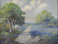 Texas:Early Texas Art - Impressionists, ROSE DRIVER (1896-1985). Untitled Bluebonnet Landscape. Oil oncanvas. 18in. x 24in.. Signed verso. Rose Driver studied ar...