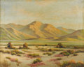 Texas:Early Texas Art - Impressionists, HERBERT SARTELLE (1885-1955). Untitled Desert Scene. Oil on canvas.24in. x 30in.. Signed lower right. A Texas and Califor...