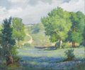 Texas:Early Texas Art - Impressionists, JOHN ORTH (1889-1976). Bluebonnets and Path, 1920s to 1930s.Oil on canvas. 30in. x 36in.. Signed lower right. John Or...
