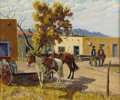 Texas:Early Texas Art - Regionalists, FRED DARGE (1900-1978). Waiting. Oil on canvasboard. 20in. x24in.. Signed lower right. Titled verso. Fred Darge is ma...