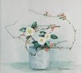Texas:Early Texas Art - Impressionists, MARY THOMPSON (1912-2001). Japonica Camillas. Watercolor. 151/2in. x 14in.. Signed lower right. Signed and titled verso...