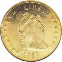 1797 $10 Large Eagle MS63 NGC. Breen-6834, Taraszka-12, BD-4, High R.4. Take a one dollar bill out of your pocket or pur...