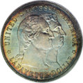 1900 $1 Lafayette Dollar MS66 PCGS. Ex: JFS Collection. DuVall 2-C. The second S in STATES is repunched, as is the final...