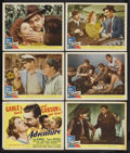 """Movie Posters:Romance, Adventure (MGM, 1945). Title Lobby Card (11"""" X 14"""") and Lobby Cards (5) (11"""" X 14""""). Romantic Drama. Starring Clark Gable, G... (Total: 6 Items)"""