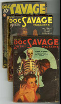 Pulps:Adventure, Doc Savage Group (Street & Smith, 1934-46) Condition: Average GD.... (Total: 12)