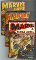 Pulps:Science Fiction, Marvel Science Stories Group (Red Circle, 1939-51) Condition:Average GD.... (Total: 4)