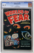 Golden Age (1938-1955):Horror, Worlds of Fear #4 (Fawcett, 1952) CGC FN+ 6.5 White pages....