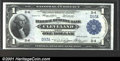 Large Size:Federal Reserve Bank Notes, Fr. 718 $1 1918 CGA Choice Uncirculated 63. The note has t...