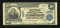 National Bank Notes:Pennsylvania, Blossburg, PA - $10 1902 Plain Back Fr. 632 The Miners NB Ch. #5007. ...