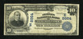 National Bank Notes:Pennsylvania, West Alexander, PA - $10 1902 Plain Back Fr. 626 The Peoples NB Ch. # (E)8954. ...