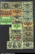 Fractional Currency:Fifth Issue, A Nice Fractional Group. Fr. 1230, Fr. 1231, 1232, 1233, 12...