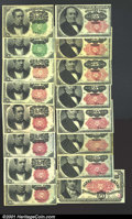 Fractional Currency:Fifth Issue, A Very Nice Fifth Issue Group. Two Green Seal Fr. 1264's, t...