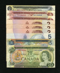 Canadian Currency: , Canadian Circulated Lot.. ... (Total: 9 notes)