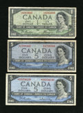 "Canadian Currency: , ""Devil's Face and Asterisk Notes.. ... (Total: 3 notes)"
