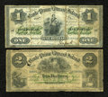 Canadian Currency: , Charlotte Town, PEI- the Bank of Prince Edward Island . $1 Jan. 1,1877 Ch. # 600-12-04, $2 Jan. 1, 1877 Ch. # 600-12-08. ... (Total:2 notes)