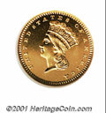 Proof Gold Dollars: , 1861 G$1, CA
