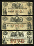Canadian Currency: , Toronto, UC- The Farmer's Joint Stock Bank. $1 Feb. 1, 1849 Ch. #280-14-04-02. $2 Feb. 1, 1849 Ch. # 280-14-04-04. $5 Feb. ...(Total: 3 notes)