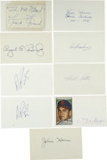 Autographs:Index Cards, St. Louis Cardinals Stars Signed Index Cards Lot of 9. Nine signed index cards featuring members of the storied St. Louis C...