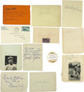 Autographs:Letters, Vintage Baseball Signed Album Pages and Cut Signatures Lot of 22.Fine collection of signed album pages and cut signatures ...