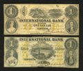 Canadian Currency: , Toronto, CW- The International Bank of Canada. $1 Sept. 15, 1858Ch. # 380-10-12-02. $1 September 15, 1858 Ch. # 380-10-12-0...(Total: 2 notes)