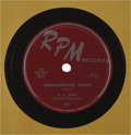 """Music Memorabilia:Recordings, B. B. King 78s Group of 18 (1953-59). B. B. """"Blues Boy"""" King firstmade the R&B charts in 1951, and although he charted brie...(Total: 18 Items Item)"""