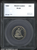 Additional Certified Coins: , 1864 25C, CA