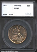 Additional Certified Coins: , 1854 50C ARROWS