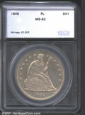 Additional Certified Coins: , 1849 S$1