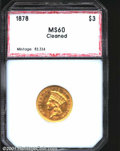 Additional Certified Coins: , 1878 $3