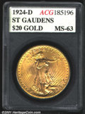 Additional Certified Coins: , 1924-D $20