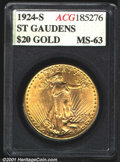 Additional Certified Coins: , 1924-S $20