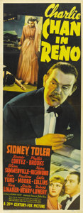 "Movie Posters:Mystery, Charlie Chan in Reno (20th Century Fox, 1939). Insert (14"" X36"")...."
