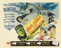 "Abbott and Costello Meet Frankenstein (Universal International, 1948). Half Sheet (22"" X 28"") Style B"