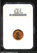 Lincoln Cents: , 1918 1C, RD