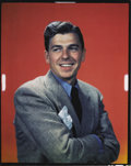 "Movie Posters, Ronald Reagan Color Transparency (Warner Brothers, 1940s). (8"" X 10"")...."