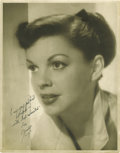 "Movie Posters:Comedy, Judy Garland Publicity Still (MGM, 1950s). Autographed (11"" X14"")...."
