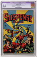 Golden Age (1938-1955):Horror, Suspense Comics #9 (Continental Magazines, 1945) CGC Apparent VG/FN5.0 Slight (P)....