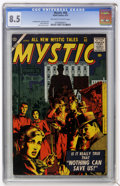 Golden Age (1938-1955):Horror, Mystic #60 (Atlas, 1957) CGC VF+ 8.5 Off-white to white pages....