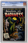 Golden Age (1938-1955):Horror, Adventures Into Darkness #5 (Standard, 1952) CGC VG 4.0 Off-whitepages....