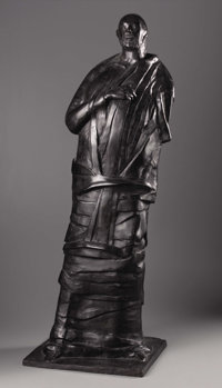 LEONARD BASKIN (American 1922-2000) The Seer, 1975 - Bronze 42-1/2 x 15 x 14 inches (107 x 38.1 x 35.6 cm) Inscribed