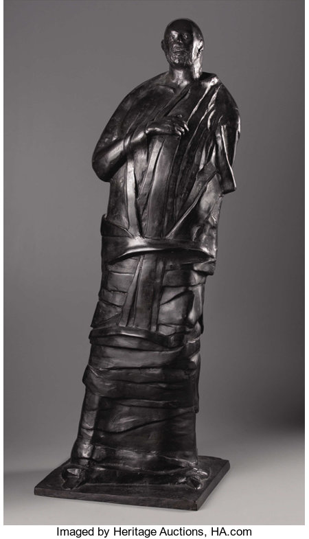 LEONARD BASKIN (American 1922-2000) The Seer, 1975 - Bronze 42-1/2 x 15 x 14 inches (107 x 38.1 x 35.6 cm) Inscribed...