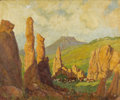 Texas:Early Texas Art - Regionalists, HARRY ANTHONY DEYOUNG (1893-1956). Pinnacle Rocks DavisMountains, 1927. Oil on canvas. 30in. x 36in.. Signed andtitled...