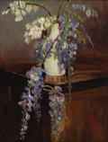 Texas:Early Texas Art - Regionalists, MINNIE HOLLIS HOLTOM (1888-1978). Wisteria. Oil oncanvasboard. 15 1/2in. x 11 1/2in.. Signed lower right. MinneHolli...