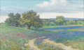 Texas:Early Texas Art - Impressionists, BILL ZANER (b. 1936). Along a Bluebonnet Road. Oil onmasonite. 18in. x 30in.. Signed lower left. Signed and titledvers...