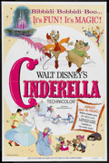 "Movie Posters:Animated, Cinderella (Buena Vista, R-1973). One Sheet (27"" X 41""). Animated Fantasy. Starring the voices of Ilene Woods, Verna Felton,..."